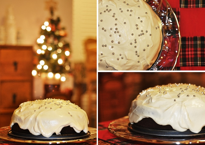 Christmas Snow Ball Cake