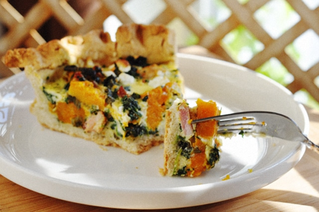 This delicious Gluten Free Butternut Squash with Sage Quiche has all the flavors for fall or winter.