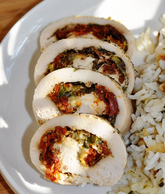 Chicken Rolled Sun Dried Tomatoes