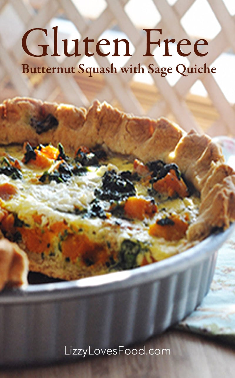 Gluten Free Butternut Squash with Sage Quiche