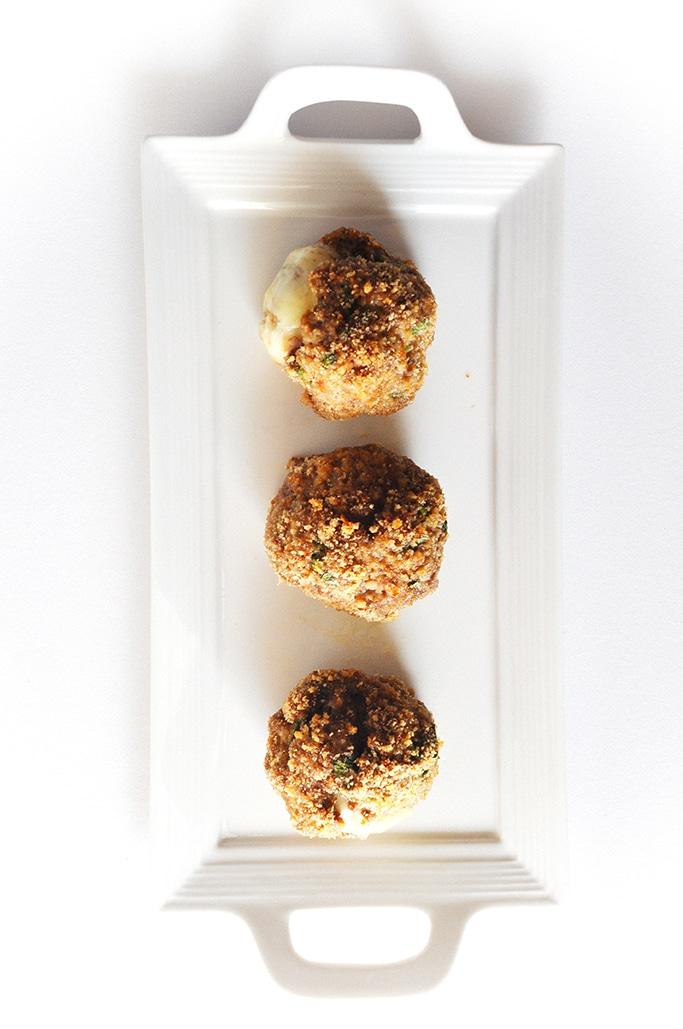 Organic Cheesy Lava Meatballs