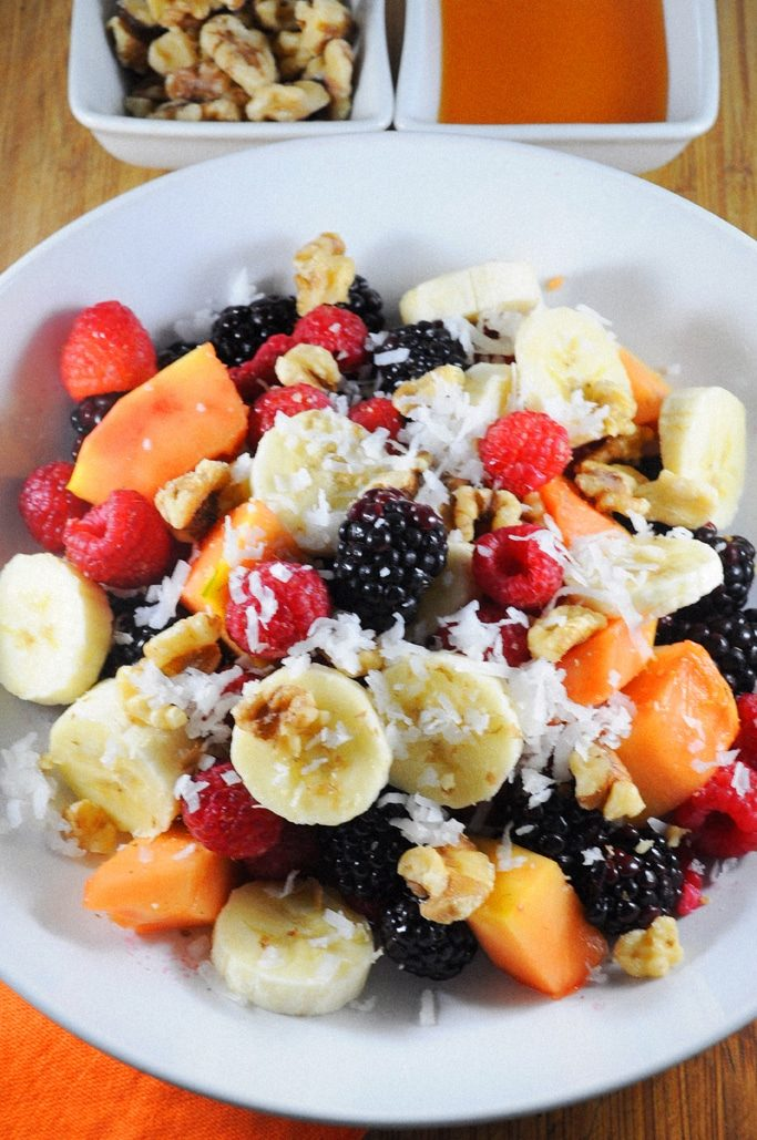 My breakfast berry bowl is one of my favorite ways to start the day. Fresh fruits and coconut bring a tropical flavor to this healthy breakfast.