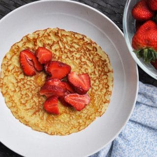 French Einkorn Crepes with Strawberries