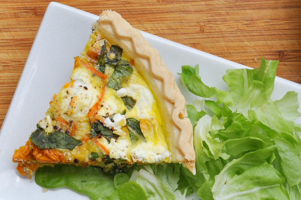 Summer Vegetable Quiche Goat Cheese