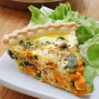 Summer Vegetable Quiche with Goat Cheese