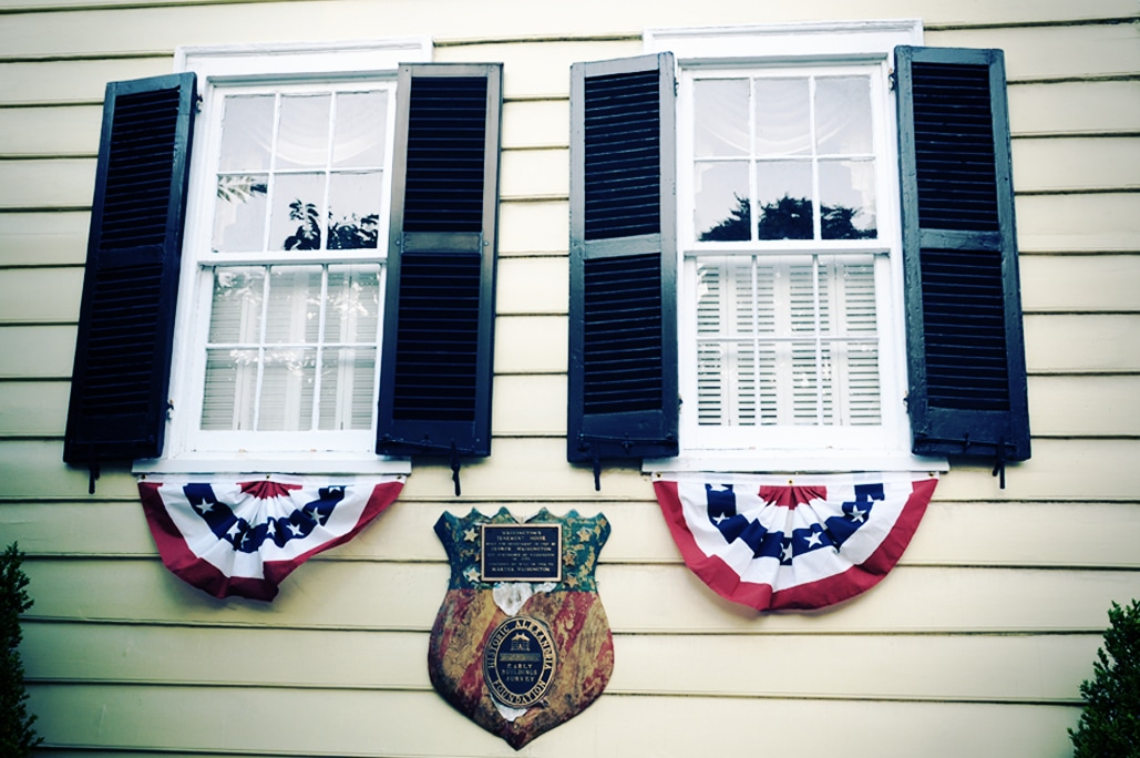 America Flags on King Street Alexandria Va