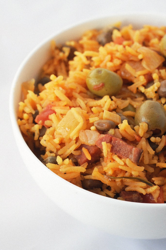 Arroz Con Gandules is a traditional Puerto Rican rice dish. Packed full of flavor, this makes for a unique side dish