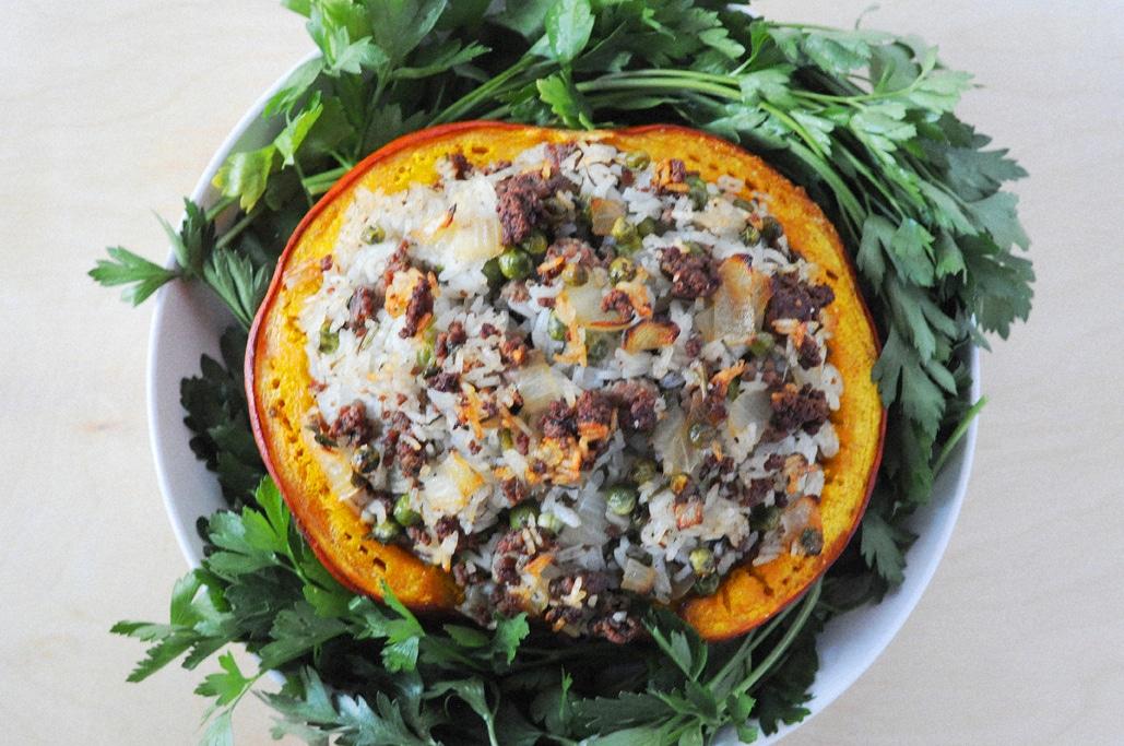 Savory Stuffed Pumpkin for Thanksgiving Dinner