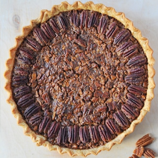 As we set the table and get ready to put the turkey in the oven, lets not forget the Bourbon and Chocolate Chip Pecan Pie for dessert.