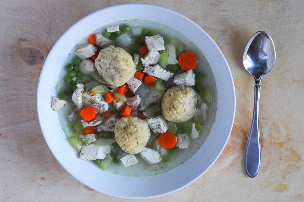 Matzo Ball Soup for Hanukkah - Lizzy Loves Food