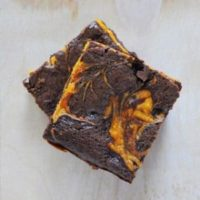 Deluxe Pumpkin Cream Cheese Brownies
