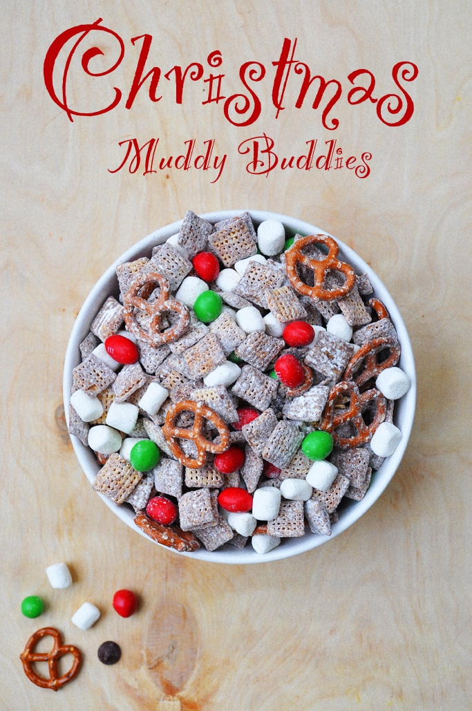 Gluten Free Christmas Muddy Buddies