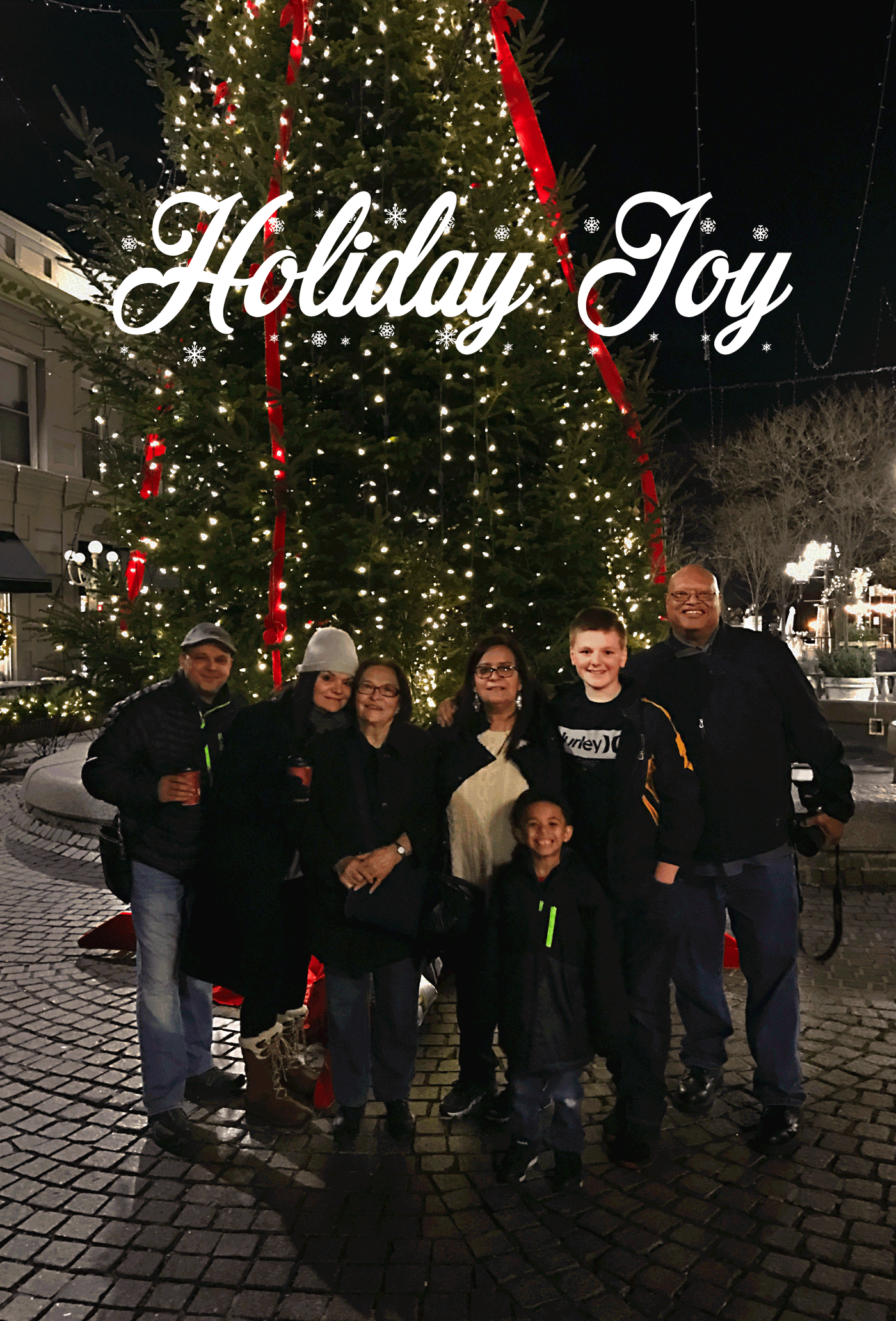 We got ready on Friday to join the family for Holiday Joy in New England. It was a quick 3 day trip to Rhode Island to see my side of the family.