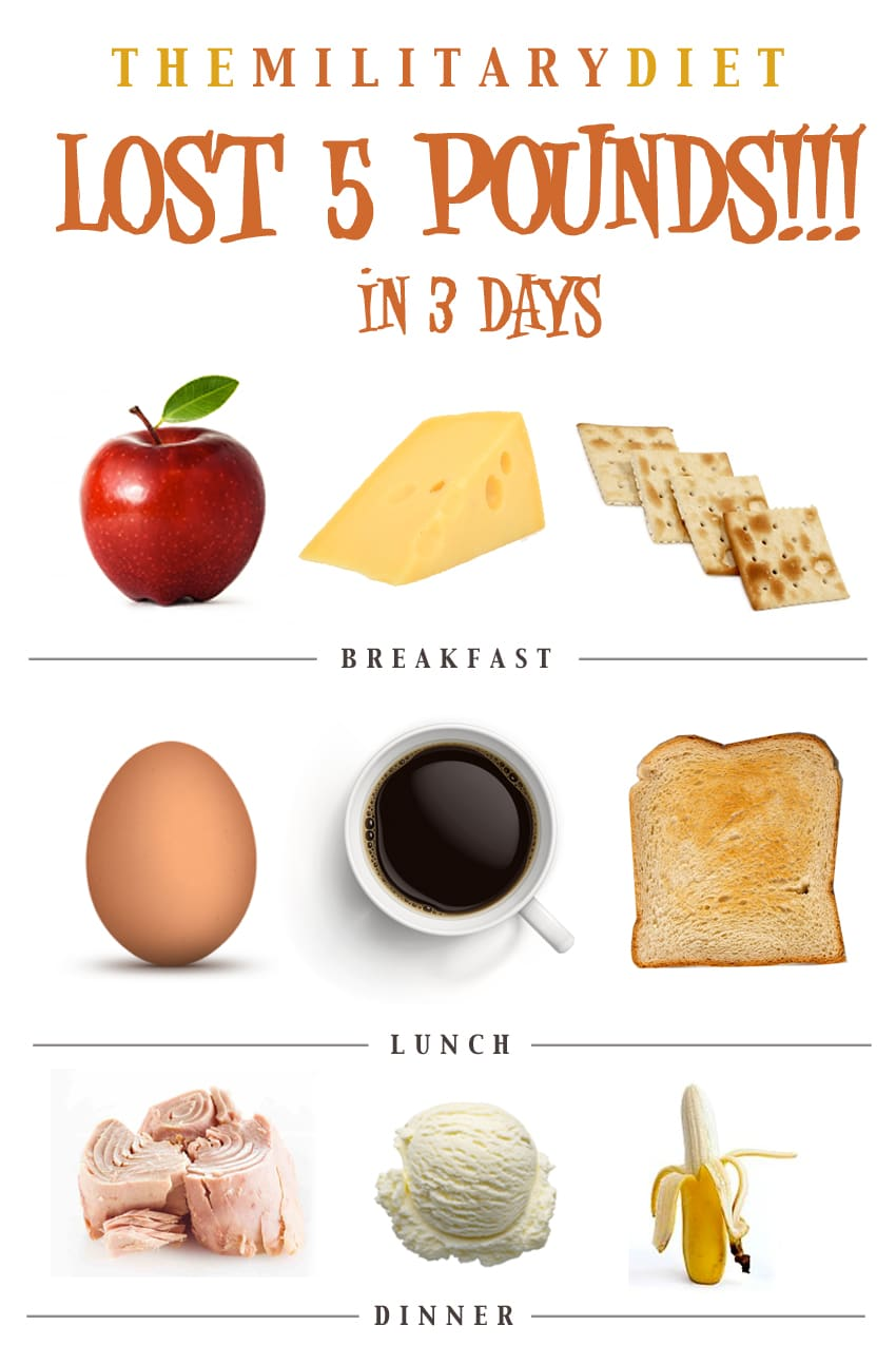 Lose 10lbs on the 3 Day Military Diet
