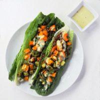 Sweet Potato & Quinoa Salad with Tahini Dressing