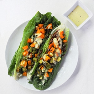 Sweet Potato & Quinoa Salad with Tahini Dressing