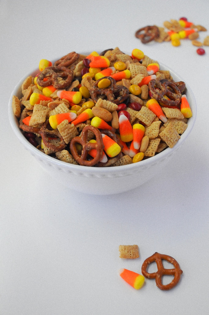 Trick-Or-Treat Caramel Pretzel Chex Mix