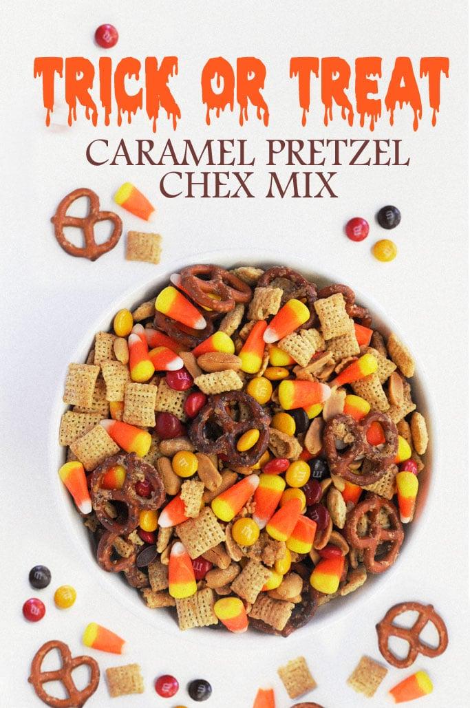 Trick-Or-Treat Caramel Pretzel Chex Mix
