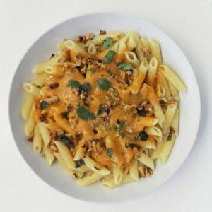 Pumpkin Walnut Sauce with Penne Pasta