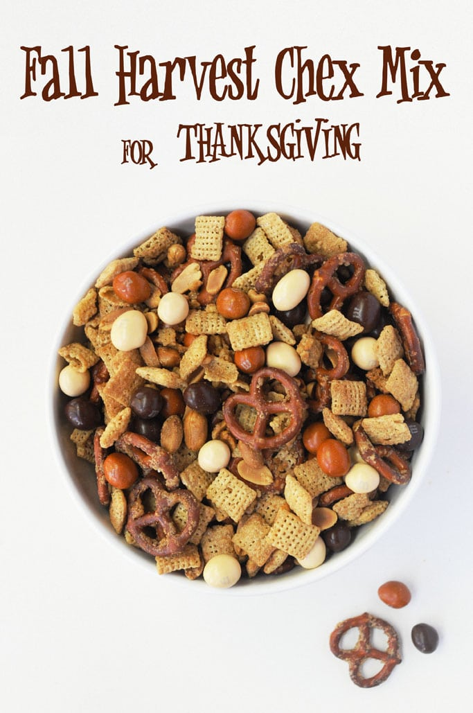 Fall Harvest Chex Mix for Thanksgiving