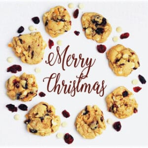 It's time for someSoft & Chewy White Chocolate Cranberry Macadamia Cookies.