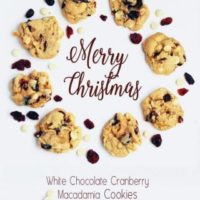 White Chocolate Cranberry Macadamia Cookies