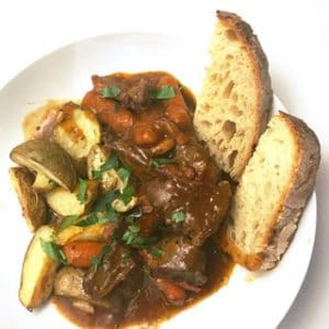 Traditional French Beef Bourguignon