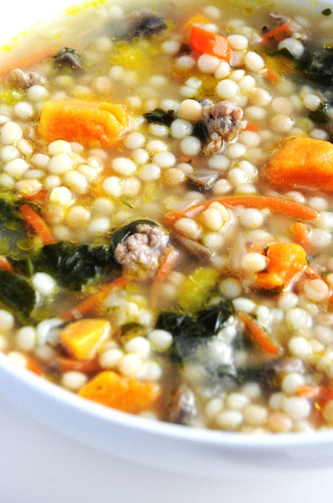 Vegetable Soup with Israeli Couscous