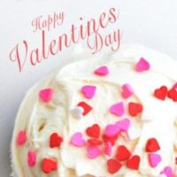 "Happy Valentines Day! Jumbo Chocolate Cupcakes with Cream Cheese Frosting is a cost effective way to say, ""I love you on Valentines."""