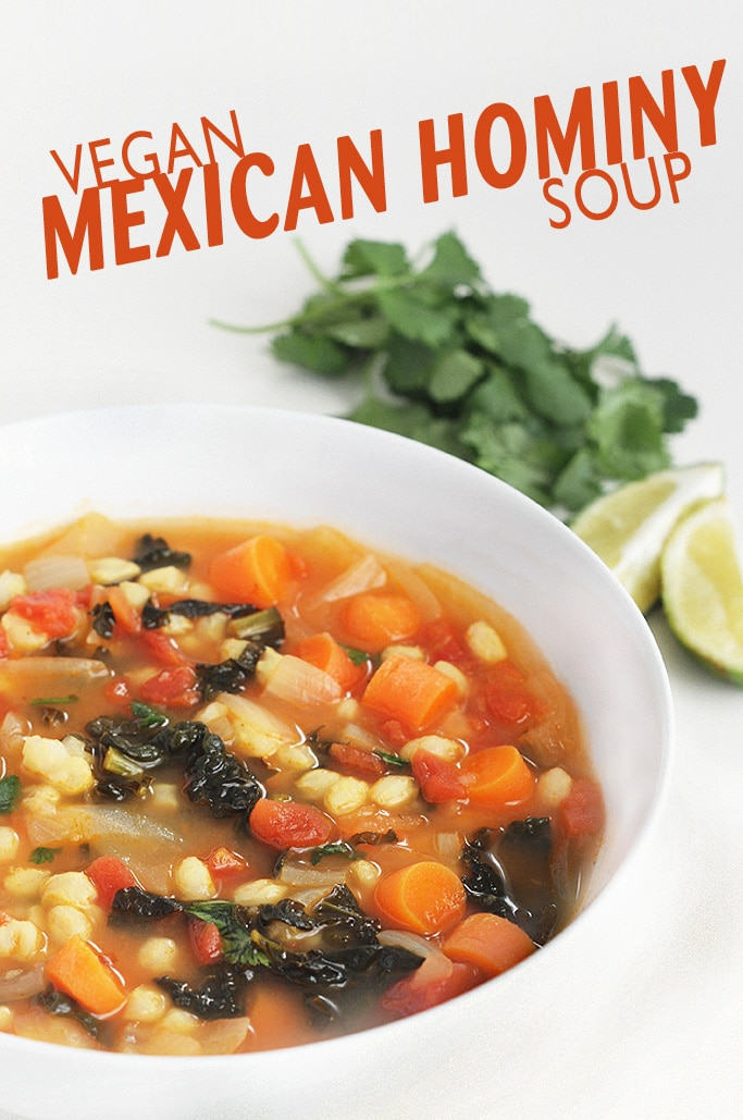 Vegan Mexican Hominy Soup