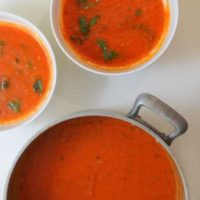 French Country Style Tomato Basil Soup