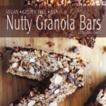 Healthy Vegan Nutty Granola Bars