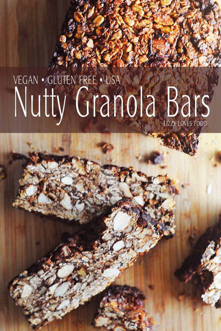 Healthy Vegan Nutty Granola Bars Lizzy Loves Food