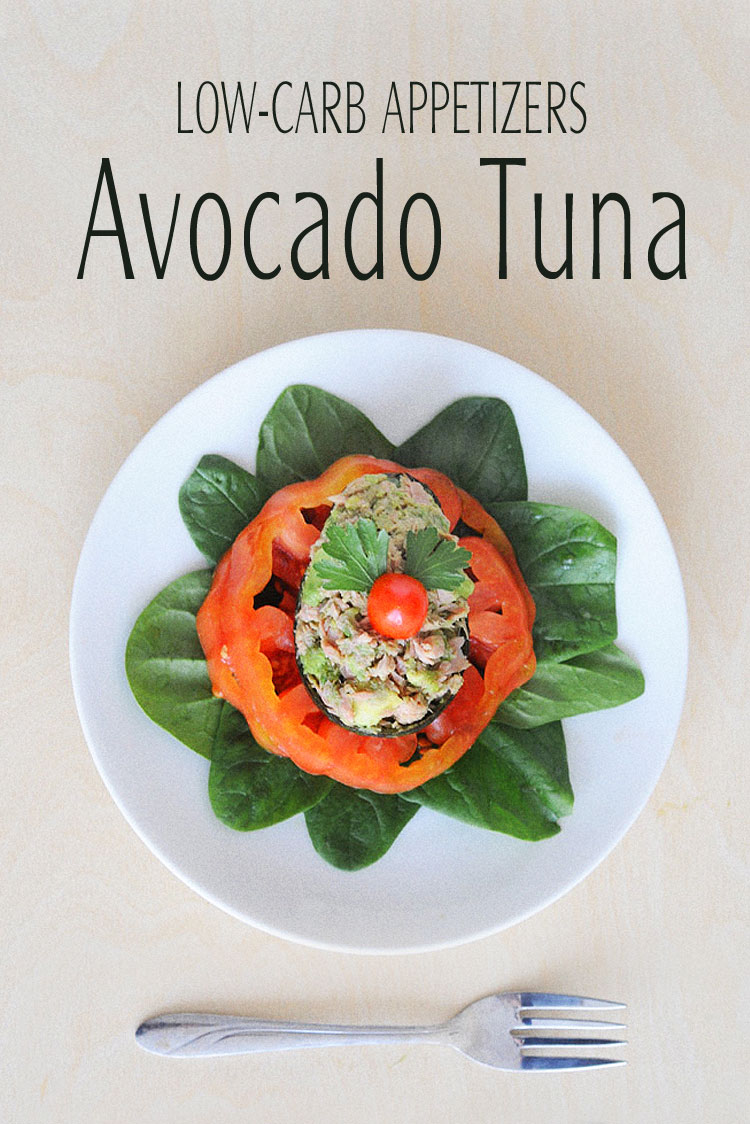 Delicious Low-Carb Appetizers with Avocado and Tuna for a holiday flare. I believe, one can eat healthy without giving up taste for the holidays. #lowcarb #glutenfree #tuna #avocado #appetizers