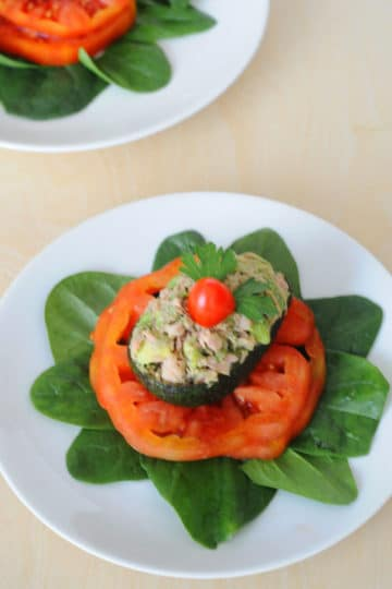 Low-Carb Avocado Tuna Appetizers