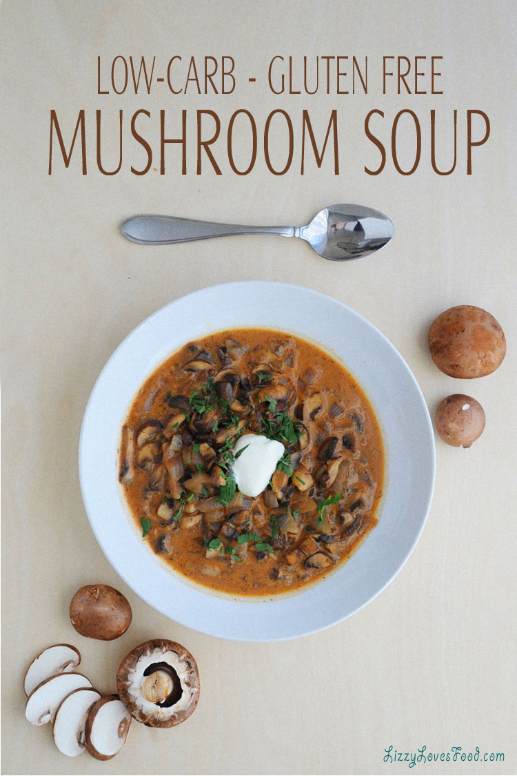 Lizzy Loves Food has a low carb mushroom soup recipe online! Click here to see my healthy soup, and to see my other recipes as well.