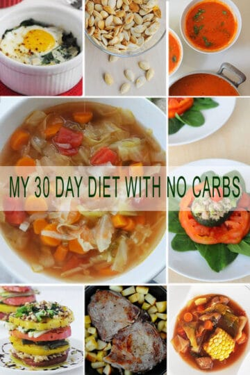 My 30 Day Diet with No Carbs