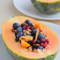 Vegan Papaya Bowl Breakfast