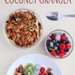 Low-Carb & Vegan Coconut Granola recipe