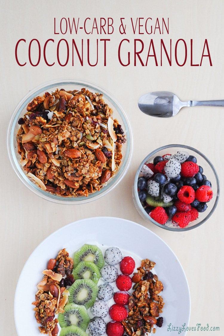 Low-Carb & Vegan Coconut Granola recipe