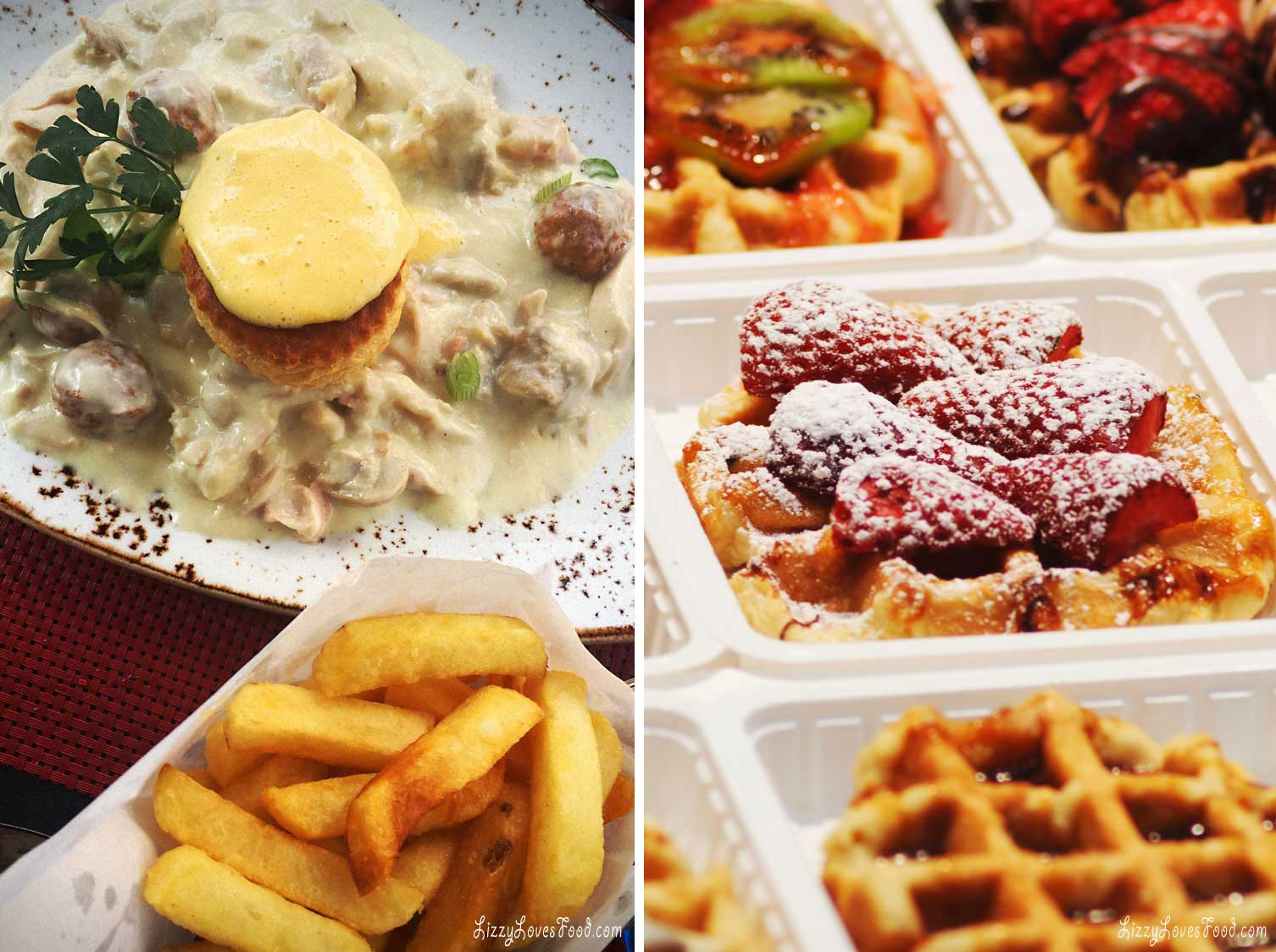 Waffles and fries