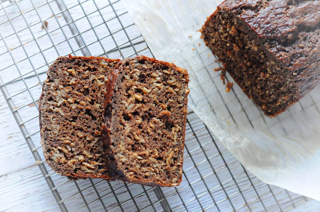 Chocolate Banana Oat Bread