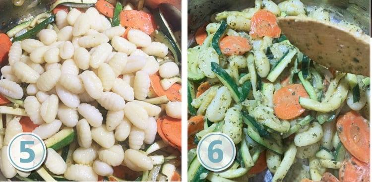 Gnocchi with Pesto Carrots and Zucchini