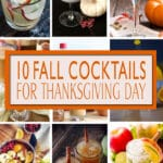 Recipes from USA!  Fall Cocktails for Thanksgiving Day are full of apple and cinnamon to fill the air of fall flavors. Making these cocktail perfect for Thanksgiving.