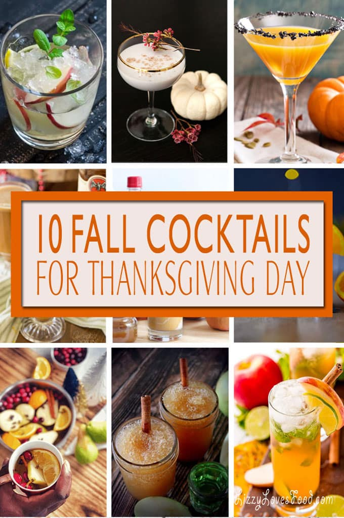 Fall Cocktails for Thanksgiving Day