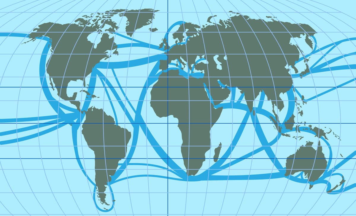 world trade route